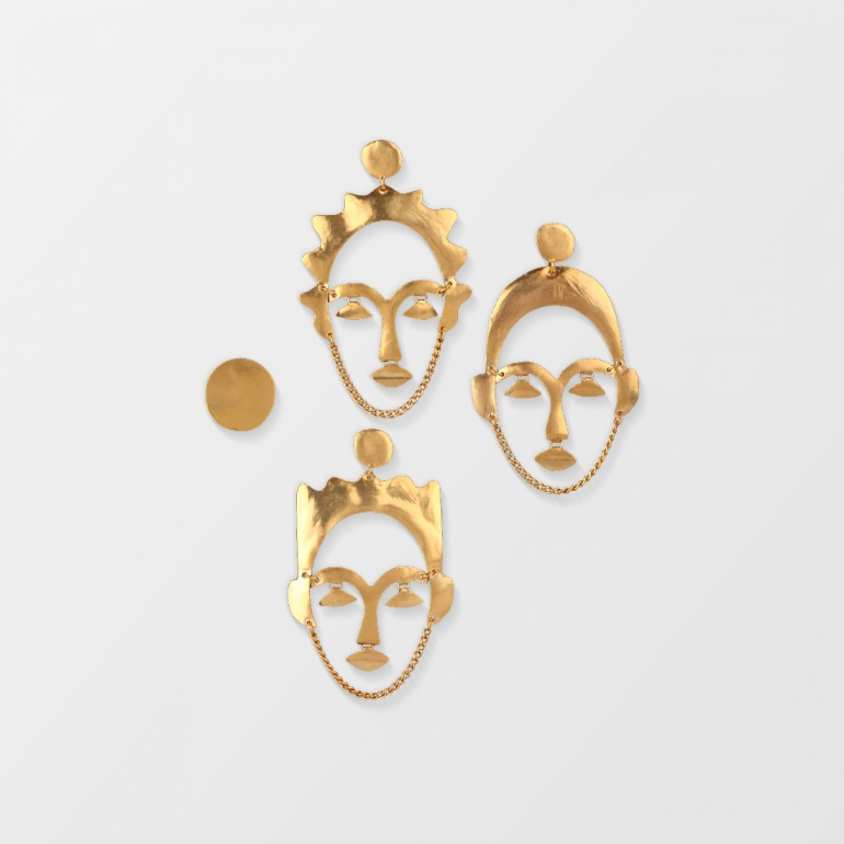 Earrings Faces