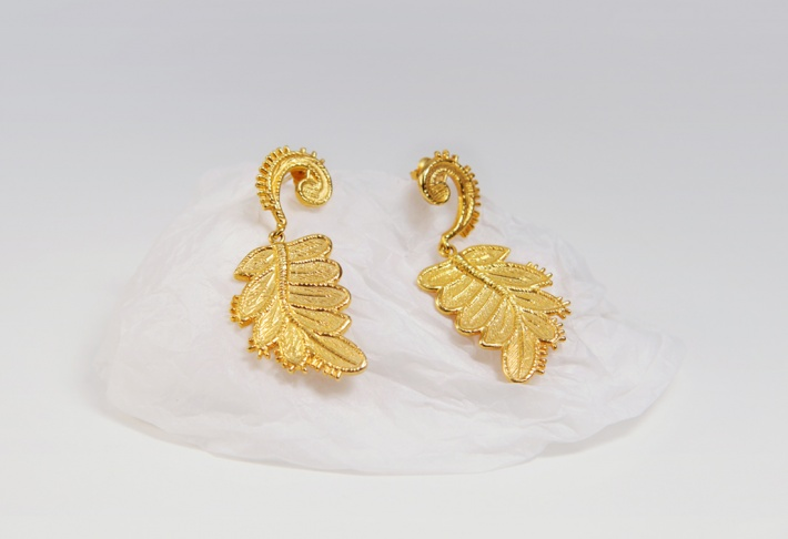 Earrings Guipure Feuille