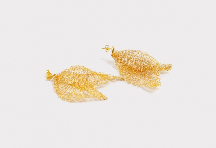 Earrings Leaves 2
