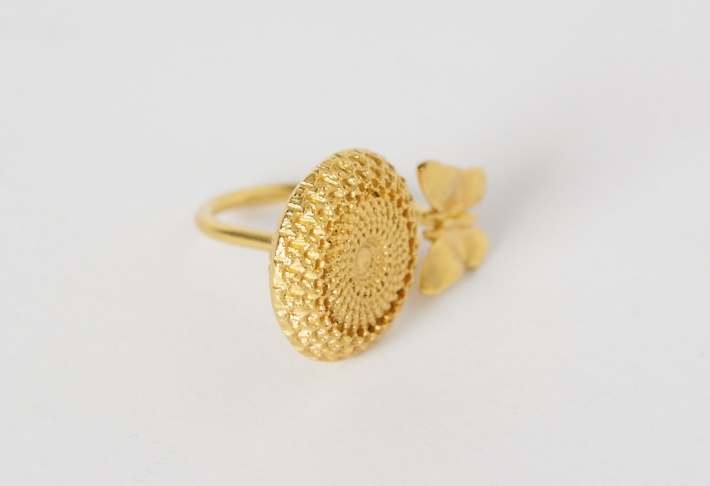 Ring Bouton D'or
